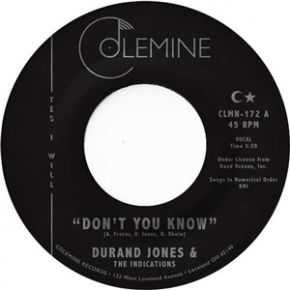 """Don't You Know / True Love - 7"""" Vinyl / Durand Jones & The Indications / 2019"""