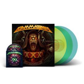 30 Years Live - 3LP (Gennemsigtig Farvet Vinyl) / Gamma Ray / 2021