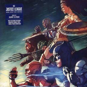 Justice League (Original Motion Picture Soundtrack) - 2LP (Blå og Sort Marmor Vinyl) / Danny Elfman / 2018