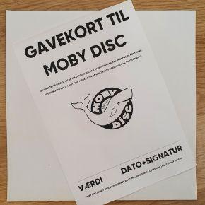 Gavekort til fysisk butik / Moby Disc / 2020 / 2021