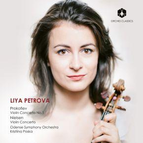 Violin Concertos - CD / Liya Petrova | Kristiina Poska | Prokofiev | Nielsen | Odense Symphony Orchestra / 2018