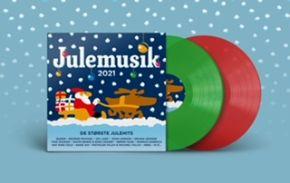 Julemusik 2021 - 2LP (Rød/Grøn Vinyl) / Various Artists / 2021