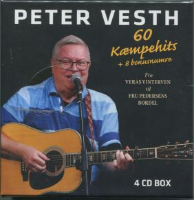 60 Kæmpehits + 8 Bonusnumre - 4CD (Boxset) / Peter Vesth / 2020