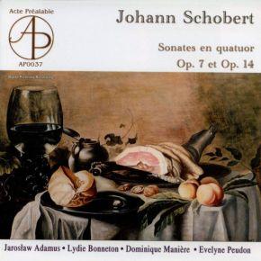 Sonates En Quatuor Op. 7 & Op. 14 - CD / Johann Schobert, Jarosław Adamus, Lydie Bonneton, Dominique Manière, Evelyne Peudon / 1999