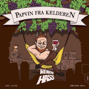 Papvin Fra Kælderen - LP / Henrik Hass  / 2014
