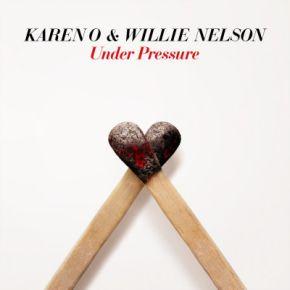"""Under Pressure - 7"""" Vinyl (Farvet Vinyl, RSD 2021) / Karen O & Willie Nelson / 2021"""