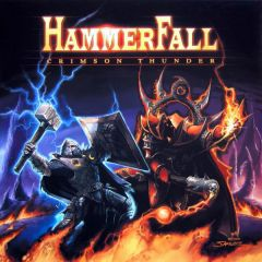 Crimson Thunder - LP (Farvet vinyl) / Hammerfall / 2002 / 2019