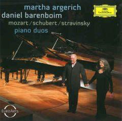 Piano Duos - CD / Martha Argerich | Daniel Barenboim - Mozart, Schubert, Stravinsky / 2014