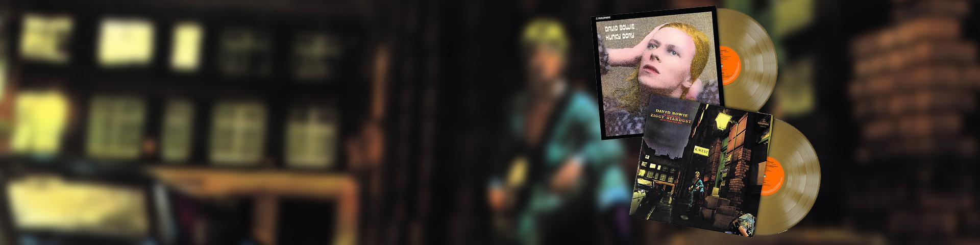 David Bowie på guld vinyl