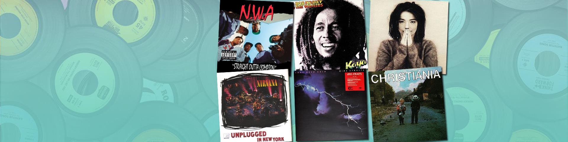 Vinyl tilbud - 99,95,- pr. stk.
